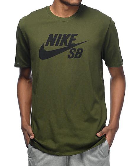 T Shirt Nike Green 6 0 nike sb logo green t shirt zumiez