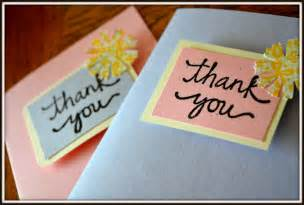 diy thank you cards p o k o