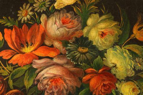 pittura fiori natura morta con frutta e fiori pittura antica arte