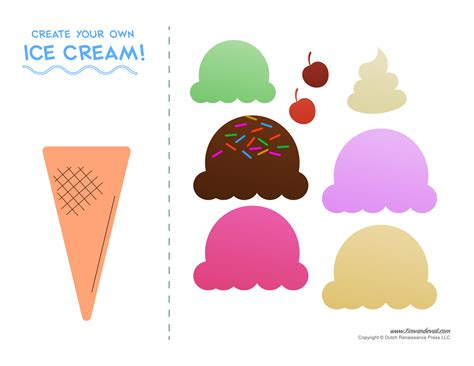 ice cream cone template playbestonlinegames