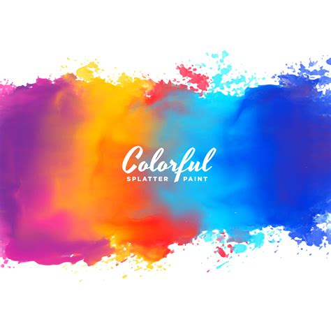 many colors watercolor background paint splash in many colors