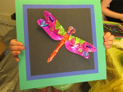 crafts for third graders 3rd grade embossed dragonfly tin 7 quot wide lesson by