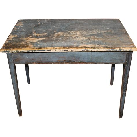 american work bench early 19th c american pine work table in old blue paint