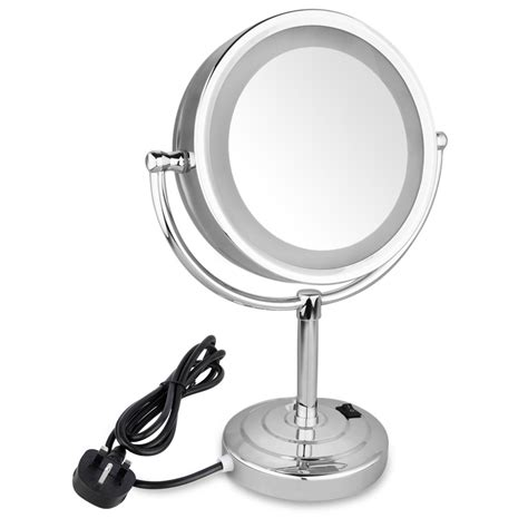lighted bathroom mirrors magnifying led illuminated swivel bathroom cosmetic shaving table