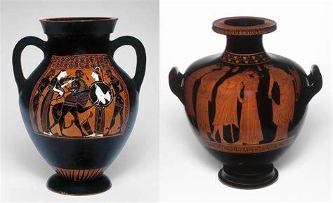 Athenian Vase Painting by Black Figure Vs Figure Ancient Vase Painting