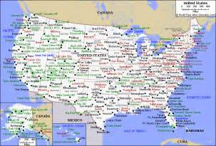 us map with top cities printable map of usa