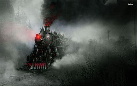 demon train wallpaper fantasy wallpapers