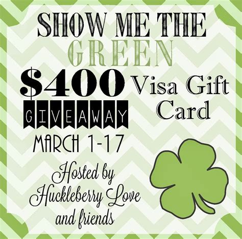 400 Visa Gift Card - show me the green 400 visa gift card giveaway endlessly inspired