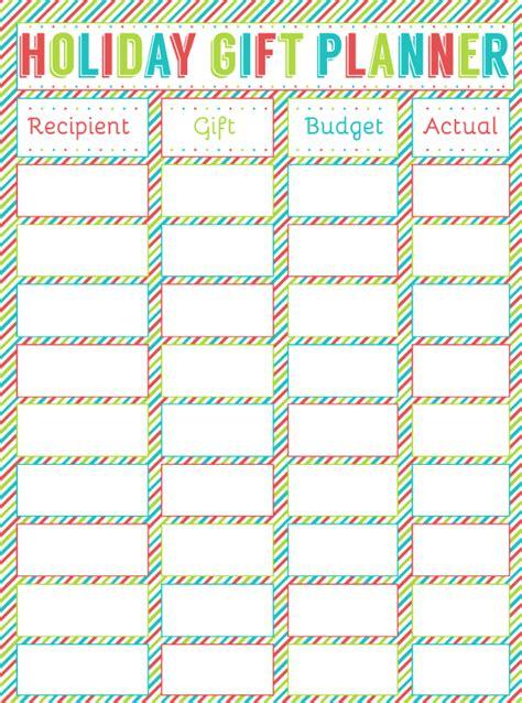 free printable christmas planner set stay organized this free printable holiday gift planner