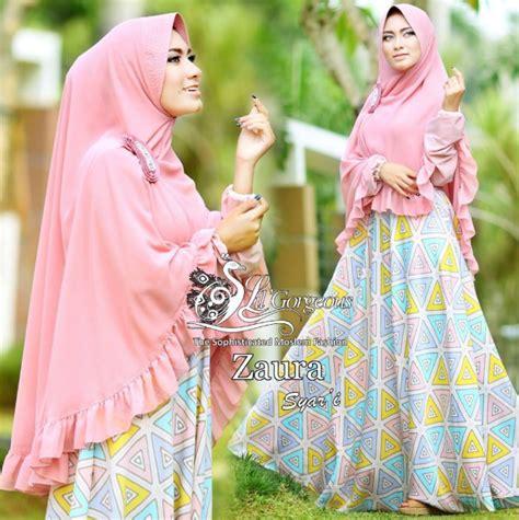 Gamis Baju Muslim Gamis Syar 39 I Busana Muslim Belva Dress Ss koleksi baju muslim syar i modern motif terbaru 2016