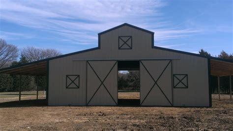 rustic barn  wills point tan metal barn green metal