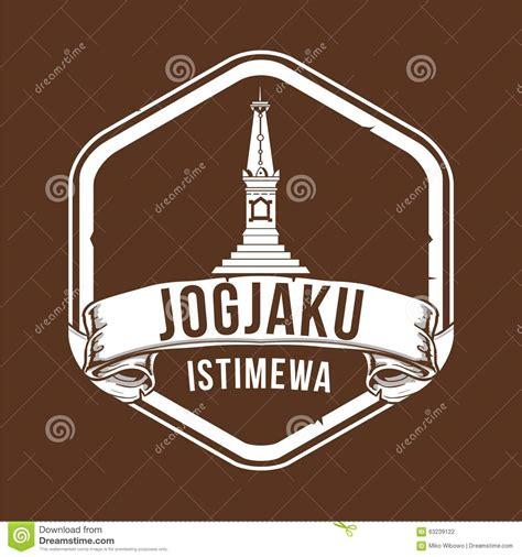 design poster jogja tugu jogja stock vector image 63239122