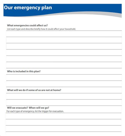 emergency plan template 9 home evacuation plan templates free pdf documents