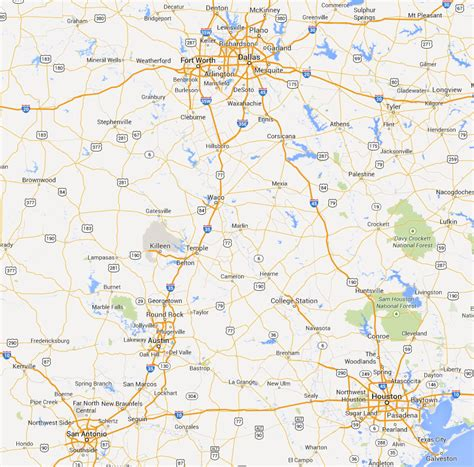 central texas map map of central texas killeen to pictures to pin on pinsdaddy