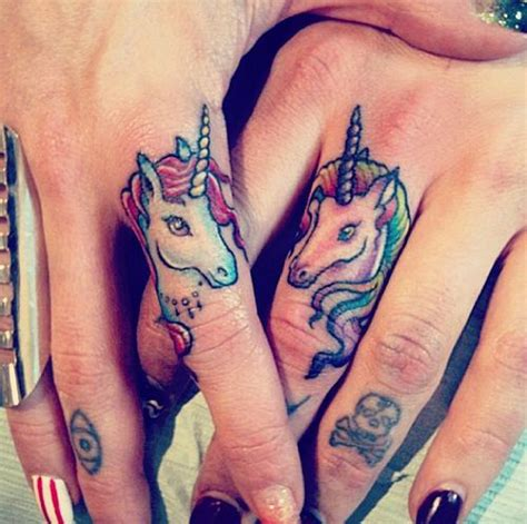 unicorn tattoo on finger top 15 finger tattoo designs with images for women and men