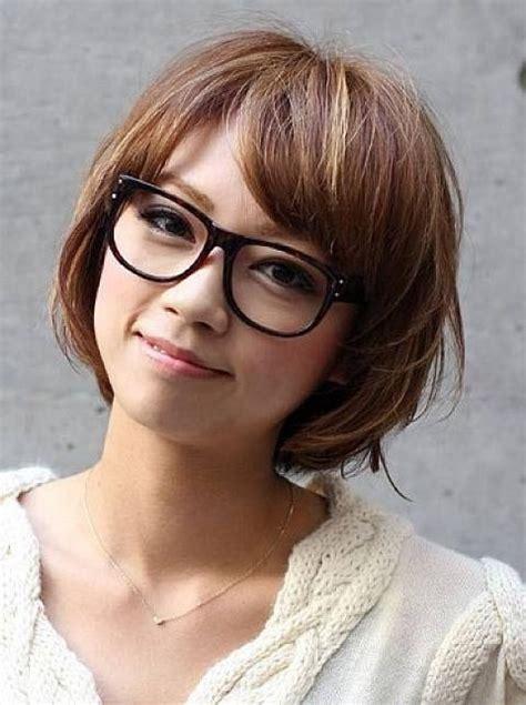 latest short haircuts  girls  glasses