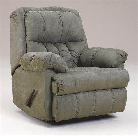 microfiber rocking recliner sage plush microfiber contemporary rocker recliner