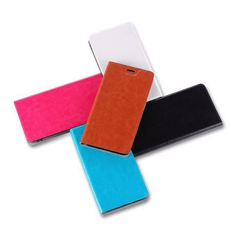 43169 Black Blue Leather Flip S M L Skirt Le110717 Import contrasting flip leather protective with stand function for nubia v18 n1 n2 n3 m2 m2 lite