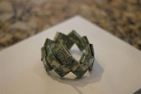 Money Bracelet Origami - our in a click gift idea dollar bill origami bracelet