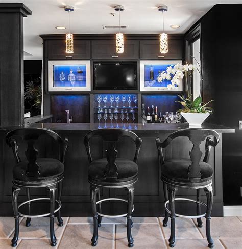 diy home bar cabinet home bar contemporary with black and