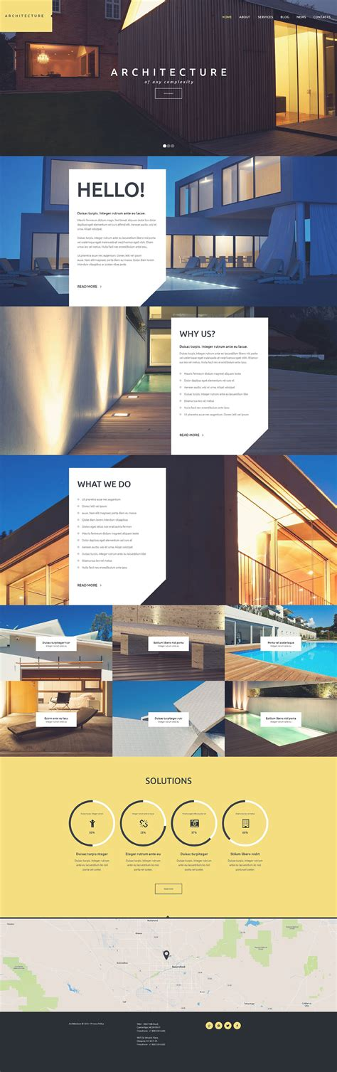 Template 53109 Ensegna Themes Architecture Website Templates