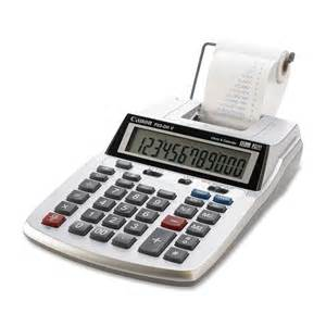 adding machine buttons canon calculator desktop print paper roll lcd display