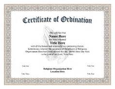Free Ordination Certificate Template by Ordination Certificate Templates