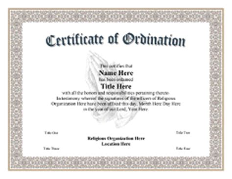 certificate of ordination deacon template search results