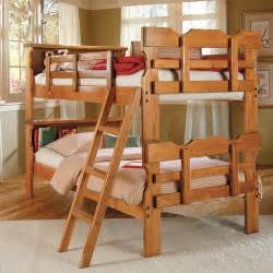 Bunk Beds With Bookcase Headboards Scalloped Bunk Bed Bookcase Headboard Ladder Honey Dcg Stores