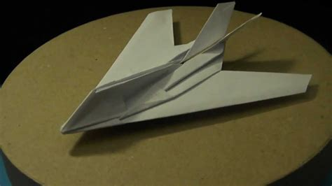 How To Make A Paper Nighthawk - flyable origami f 117 nighthawk updated version and