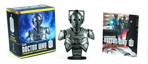 doctor who 100 illustrated adventures books doctor who cyberman bust and illustrated book kit 2013