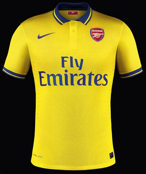 arsenal yellow kit arsenal 13 14 2013 14 away kit released footy headlines