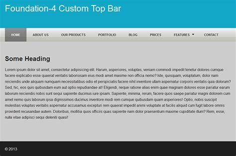 Foundation Top Bar How To Customize The Foundation 4 Top Bar