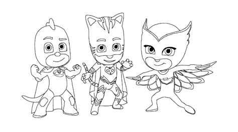 pj masks characters coloring pages pj masks coloring pages to download and print for free in