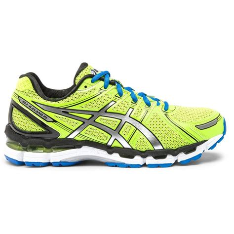 lime green athletic shoes asics gel kayano 19 mens running shoes lime green blue