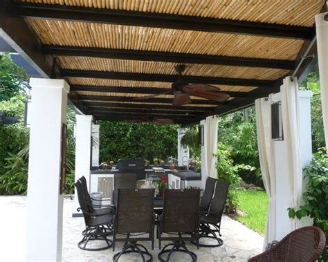 Bamboo Patio by Bamboo Poles Roof Patio California Houses