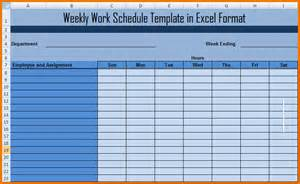 Schedule Template In Excel by Excel Weekly Schedule Template Weekly Work Schedule