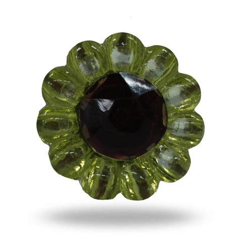 Flower Knobs by Glass Flower Knob And Green Bauchop By Trinca Ferro