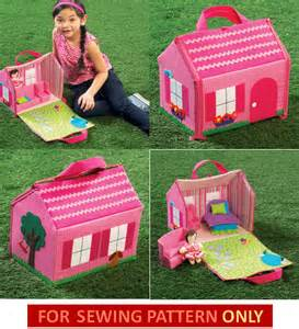 doll house pattern soft cloth child toy fold by whatcamefirst