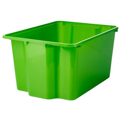 ikea storage bins gles box green 28x38x20 cm ikea