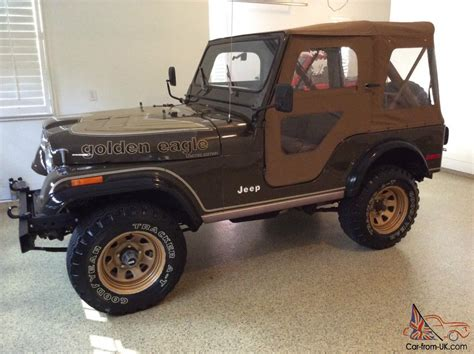 jeep gold jeep cj golden eagle all original