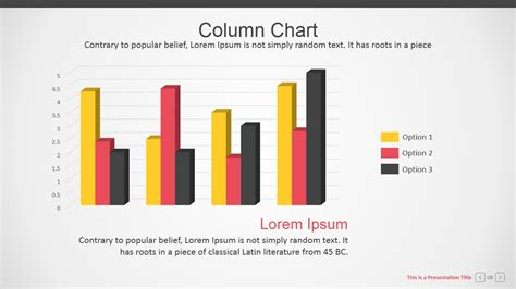 Branded Data Driven Column Charts For Powerpoint Slidemodel Branded Powerpoint Template