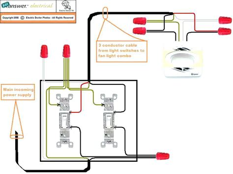 Ceiling Fan Two Switches - wire ceiling fan with two switches wiring ceiling fan two