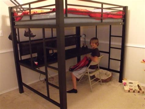 full size bunk bed with desk underneath full size loft bed with desk