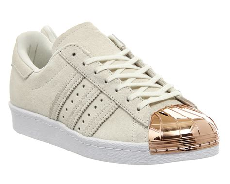 adidas superstar 80 s metal toe w white gold trainers shoes ebay