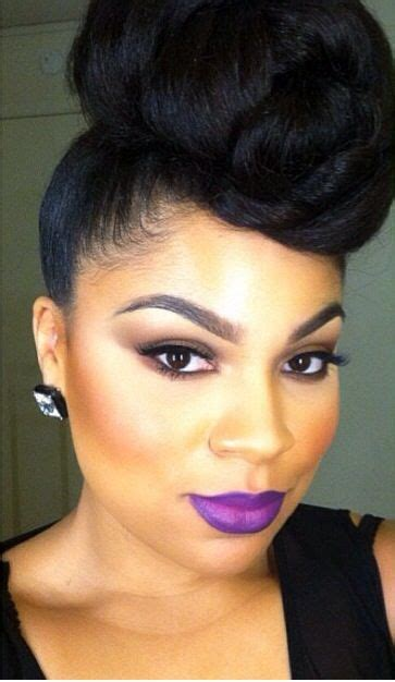 high bun for black women makeup for black women creamy crack free luvin it