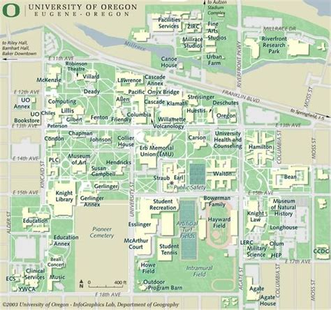 map of oregon universities cus map department of mathematics