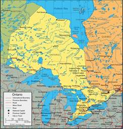 map of ontario canada ontario regions map map of canada city geography