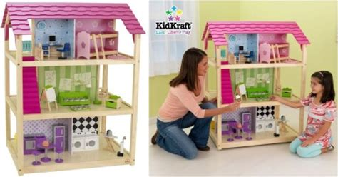amazon doll houses kidkraft so chic dollhouse with furniture roselawnlutheran