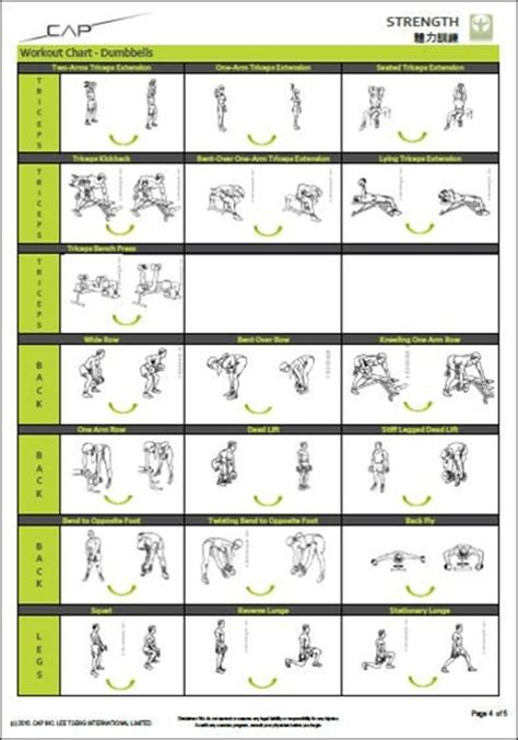 10 best images of free printable workout charts exercises 5 best images of free printable dumbbell workout chart